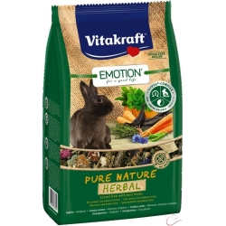 Vitakraft Emotion Pure Nature HERBAL  zakrslý králik 600g