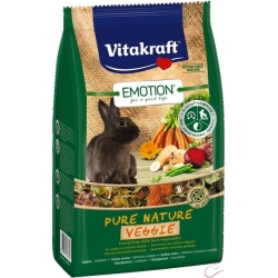 Vitakraft Emotion Pure Nature VEGGIE  zakrslý králik 600g