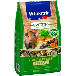 Vitakraft Emotion Pure Nature HERBAL  morské prasiatko 600g