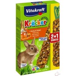 Vitakraft Kräcker králik med+špalda 2+1 zdarma