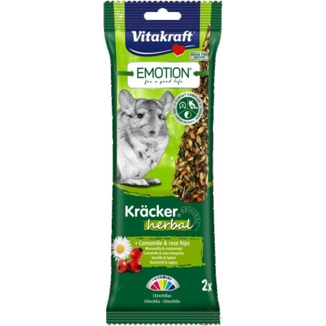 Vitakraft Emotion Kracker činčila herbal 2ks