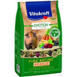 Vitakraft Emotion Pure Nature VEGGIE morské prasiatko 600g