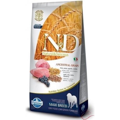 Farmina N&D dog LG adult medium&maxi lamb, spelt, oats and blueberry