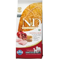 Farmina N&D dog LG Light medium&maxi chicken&pomegranate 12 kg