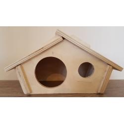 Drevený domček pre škrečka 21x11x11,5 cm so strieškou