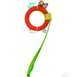 Katapult s plávajúcim kruhom Dog tvrdá guma 49/17cm
