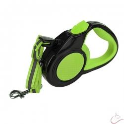 Reflexné, flexi vodítko 3m zelené