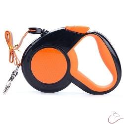 Reflexné, flexi vodítko 5m oranžové