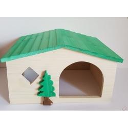 Drevený domček pre morča a iné hlodavce 26x19x15 cm