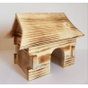 Drevený domček pre škrečka 17x11,5x12,5 cm