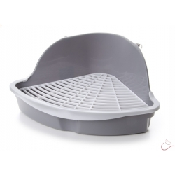 Plastová toaleta pre malé hlodavce, veľkosť 18×18×25 cm