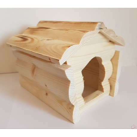 Drevený domček pre hlodavce 15x19x13 cm