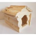 Drevený domček pre škrečka 15x19x13 cm