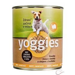 Yoggies morčacie konzerva pre psov s bataty a bodliakovým olejom 400g