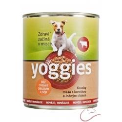 Yoggies hovädzie konzerva pre psov s karotkou a ľanovým olejom 400g