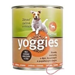 Yoggies zverinová konzerva pre psov s tekvicou a pupalkovým olejom 400g