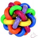 Guľa-viacfarebná tkaná 9,5 cm hračka pre psov