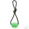 Dentálna,plávajúca hračka pre psov - farba zelená