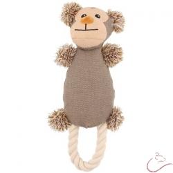 Látková,pískacia hračka pre psa - opička