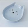 Keramická miska v tvare mačacej hlavy-modrá