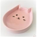 Keramická miska v tvare mačacej hlavy-ružová