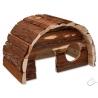 Drevený domček SMALL ANIMALS 25x16x15 HOBIT s kôrou L ( drevo h. 1,2 cm )