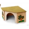 Rohový domček pre králiky XL (stromy) 27×27×15 cm