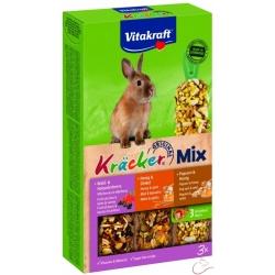 Vitakraft Kräcker králik Trio-Mix med+lesné ovocie+popkorn 3 kusy