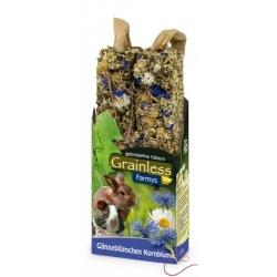JR Farm Grainless tyčinky pre hlodavce nevädza, sedmokráska 2ks