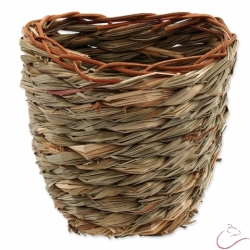 Hniezdo SMALL ANIMAL Kosik trava pletena 15x10x15cm