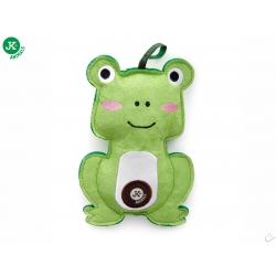 Žaba, pískacia hračka z pevnej textilnej látky, 17 cm