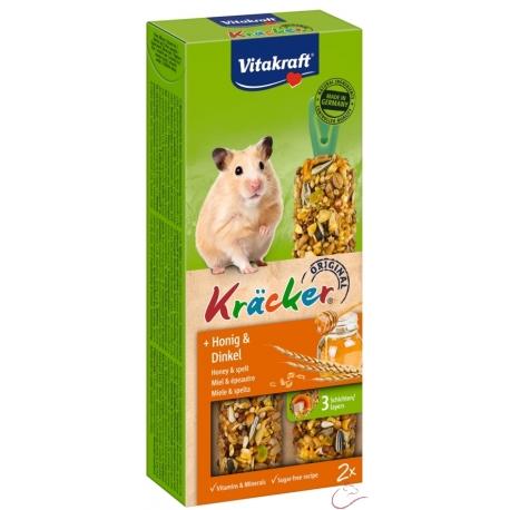 Vitakraft Kracker škrečok med + špalda 2ks 112g