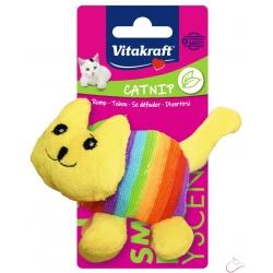 Vitakraft plyšová, malá hračka mačička duhová