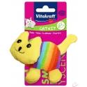 Vitakraft plyšová, malá hračka mačička duhová 10cm