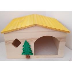 Drevený domček pre väčšie hlodavce a ježkov30x23x19 cm