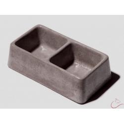Be-mi hnedá betónová dvojmiska 250x135 mm
