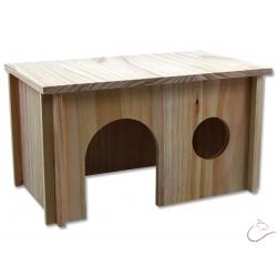 Domček SMALL ANIMALS XL drevený-hladký 38x23x21 cm