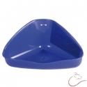 Rohová plastová toaleta pre hlodavce
