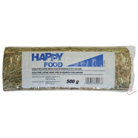 HAPPY FOOD lúčne seno s bylinkami 500 g